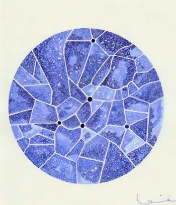 Métropole II / Stylo plume encre bleue / 14,5 x 20 cm sur papier Canson / 2016 - NON DISPONIBLE -
